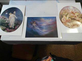 3 preciosas postales de Hadas