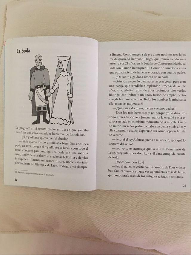Libro El Cid y la fuerza de los héroes. Editex.