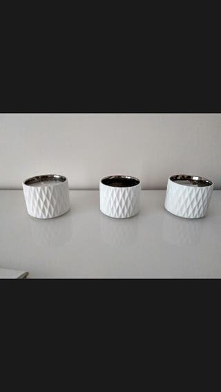 porta velas blanco Zara Home