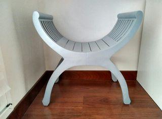 silla mueble auxiliar gris. Nuevo