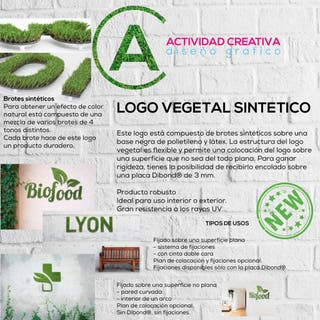 Logo vegetal sintetico