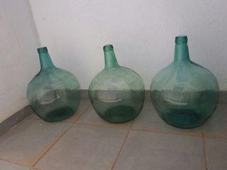 antiguas botellas garrafas damajuanas