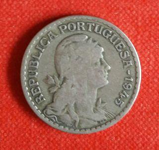 Monedas de Portugal 1 escudo