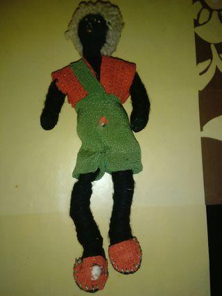 juguete antiguo muñeco de trapo