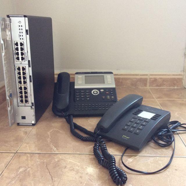 Centralita Alcatel OmniPCX Office con teléfonos