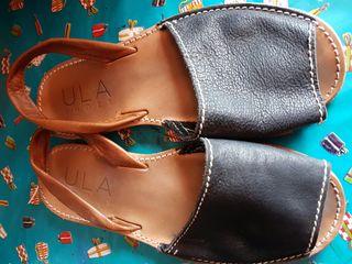 Sandalias de piel ..