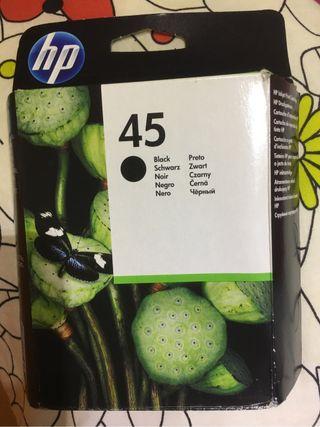 Tinta negra hp 45 original y compatible impresora