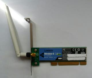 Tarjeta Wifi PCI Linksys Cisco Wireles-G 2.4Ghz