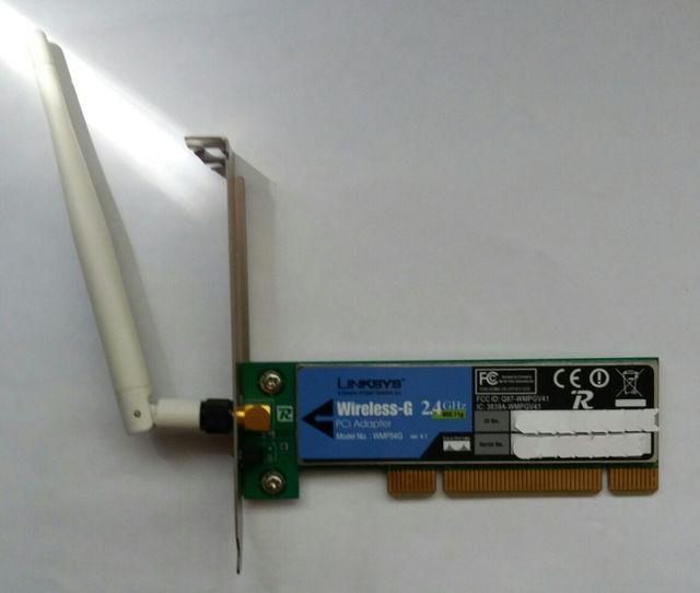 Tarjeta Wifi PCI Linksys Cisco Wireles-G 2.4Ghz