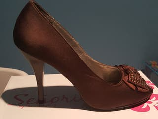 T de chocolate 39; fiesta Zapatos marron FqTFrOW