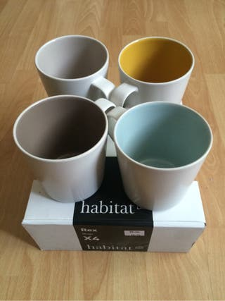 Mugs Set Of 4 Multi-Coloured