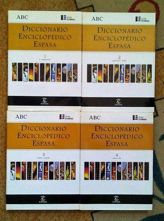 LOTE 4 TOMOS DICCIONARIO ENCICLOPEDICO ESPASA