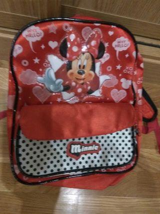 mochila roja Minnie