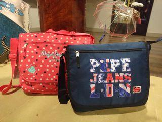 Pepe Jeans, portalibros y bolsa viaje