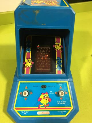 Tabletop Coleco Ms Pacman tipo Game watch Nintendo