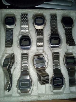 relojes LCD vintage a estrenar año 70