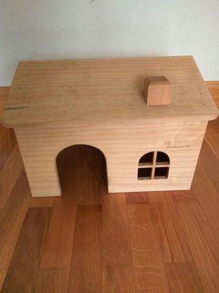 casa madera para roedores/animales