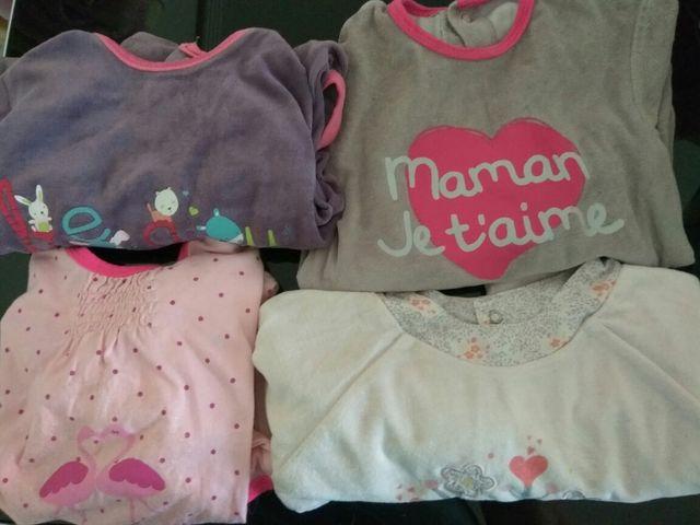 lote pijamas niña 24 meses
