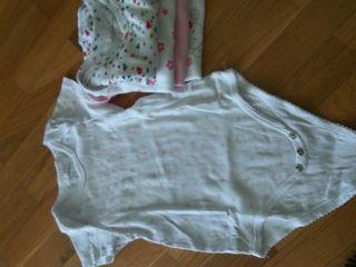 lote 5 bodys manga corta, 18 meses