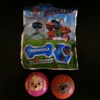 lote dos bolas patrulla canina phoskitos