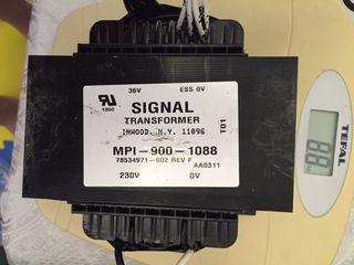 Transformador 220Vac-36Vac