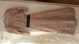 vestido para novia/invitada boda rosa nude