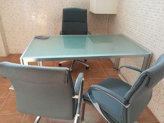 Mesa despacho cristal de segunda mano en wallapop - Mesas despacho segunda mano ...