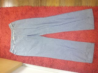 pantalones rayas azules