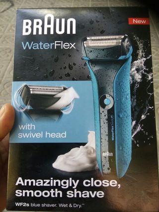 afeitadora Braun WaterFlex WF2s bue shaver