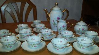 Juego de té porcelana Santa Clara Vigo