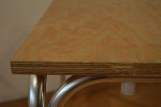 Mesa Exterior Aluminio y madera nueva