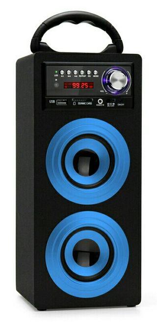 ALTAVOZ RADIO PORTATIL CON BLUETOOTH USB MP3 SD.