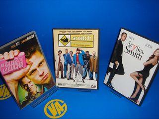 Dvd lote Brad Pitt 3 peliculas