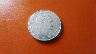 moneda 50 liras Italia 1977