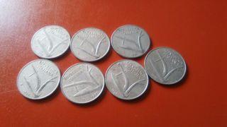 monedas 10 liras República Italiana