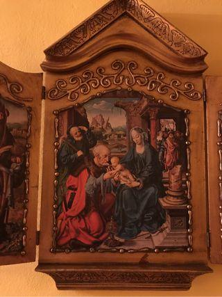 Icono triptico adoración de los Reyes