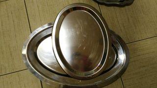 6 bandejas de acero inoxidable