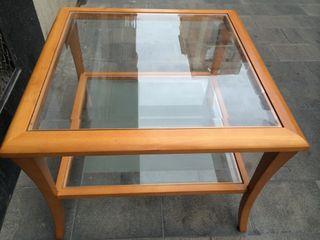 Mesa De Centro Con Cristal