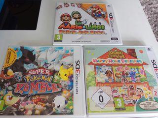 3DS, Pokemon, Animal crossing, Mario