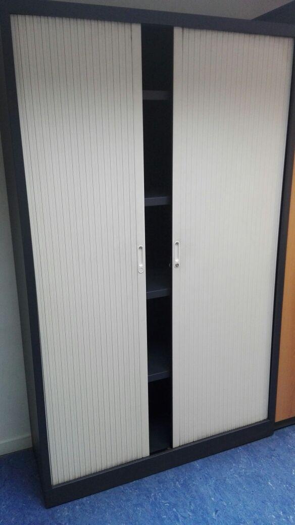 Armario Oficina Con Llave.Armario Estanteria Blanco Oficina Con Llave De Segunda Mano