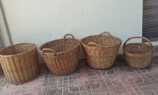 cestas mimbres