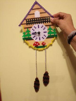 Reloj de pared hama beads