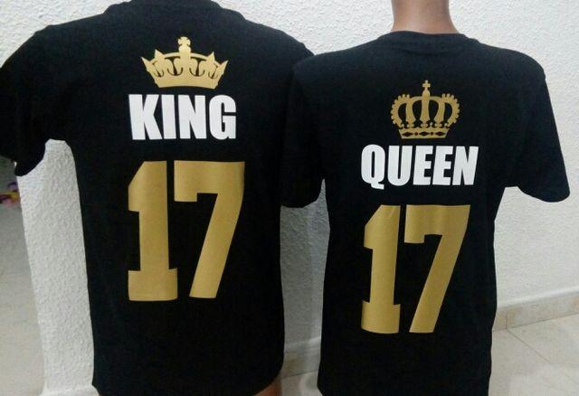 promoción especial en venta en línea estilo moderno 18€ LAS 2 CAMISETAS PERSONALIZADAS KING QUEEN de segunda ...