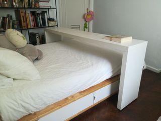 Mesa auxiliar para cama de segunda mano en wallapop - Mesa para la cama ikea ...