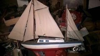 maqueta de velero madera