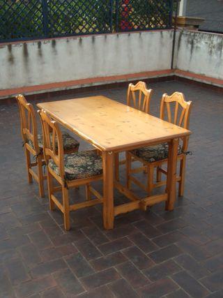Mesa comedor y 4 sillas de segunda mano por 150 en barcelona en wallapop - Wallapop mesa comedor ...
