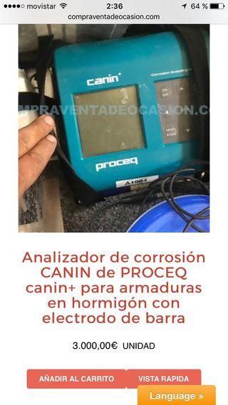 Analizador de corrosion canin proceq electrodo bar