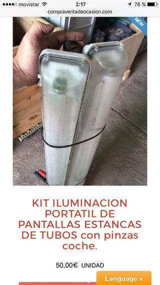 Tubo luz portatil con pinzas 11 v 1 unidad