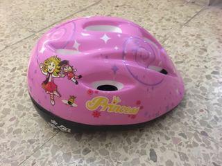 Casco bicicleta rosa niña infantil