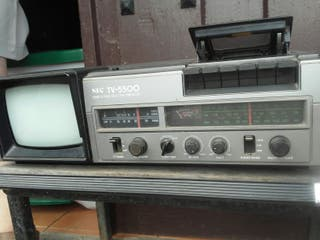 aparato vintage tele radio y casset
